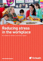summary report cover-reducing workplace stress
